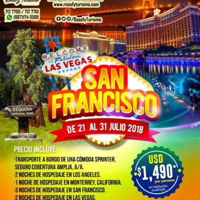 ¡San Francisco, Las Vegas y California! Del 21 al 31 de julio