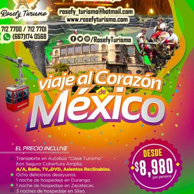 ¡Viaje al Corazón de México! Del 09 al 17 de julio