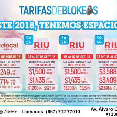 RIU EMERALD BAY Septiembre / Octubre / Enero 19 TODO INCLUIDO